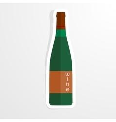 Wine bottle in the paper - vector image vector image