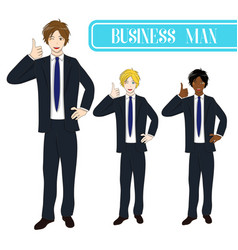 business man thumb up vector image