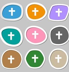 religious cross Christian symbols Multicolored vector image vector image
