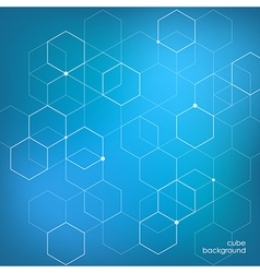 Abstract background technology hexagon vector image