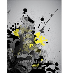 Abstract splash background with flower pattern and vector image vector image