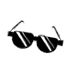 Cartoon sunglasses acessory fashion optical image vector