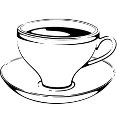 cup of coffee sketch vector image