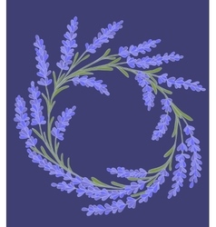 decorative floral colored garland vector image