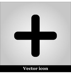 cross icon on grey background vector image vector image