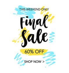 final sale mobile banner template vector image