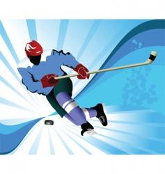 gold hockey puck vector image