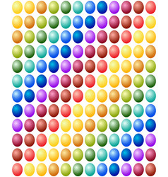 seamless pattern easter eggs color spectrum vector image