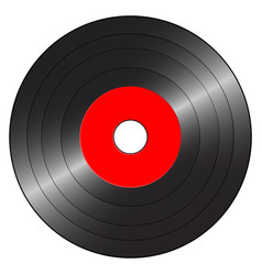 small gramophone record red vector image