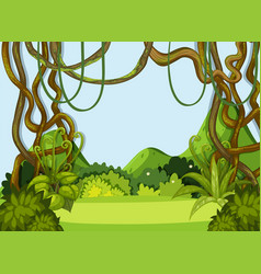A green nature landscape vector