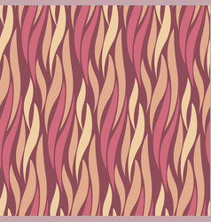 abstract wave red and yellow seamless pattern vector image