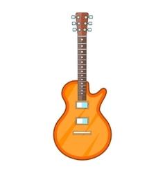 Acoustic guitar icon cartoon style vector