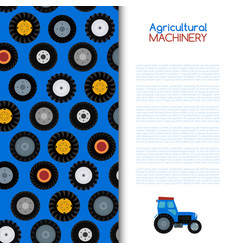 agricultural vehicle and different wheels of farm vector image