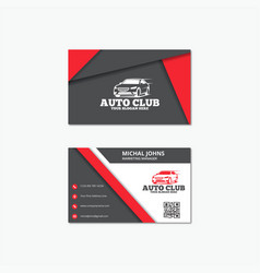 Auto business card templates vector