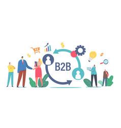 b2b business to business partnership vector image
