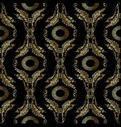 baroque embroidery seamless pattern greek mandala vector image