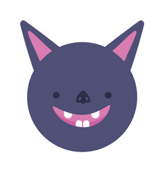 bat face cartoon icon design vector image