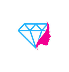 beauty diamond logo icon design vector image