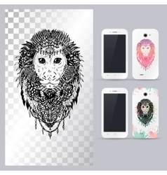 Black and white animal monkey head vector image