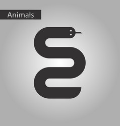 black and white style icon snake vector image