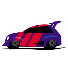 blue sportcar vector image