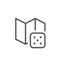 Board game line icon vector