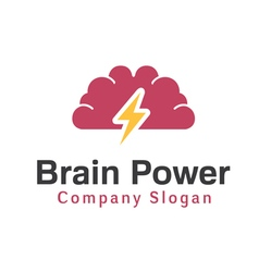 Brain Power Design vector