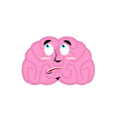 brain surprised emotion human brains emoji vector image