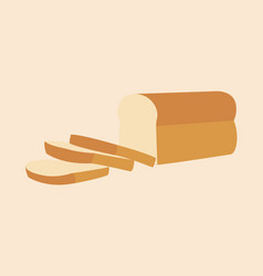 Bread loaf and sliced vector