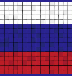 Card stunt or mosaic flag of russia vector