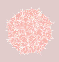 circle made of leaves in pink and red color vector image