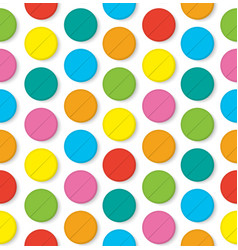 colorfull pills seamless pattern vector image