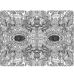 Coloring page abstract fractal pattern maze vector