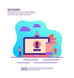 concept account modern conceptual for banner vector image