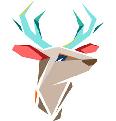 deer with geometric shapes vector image