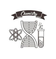Dna tube atom icon Back to school design vector