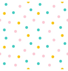 Dotted seamless pattern background vector image