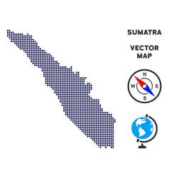 Dotted sumatra island map vector