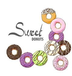 Doughnuts of various tastes vector