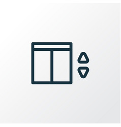 elevator icon line symbol premium quality vector image