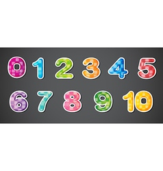 Eleven numerical figures vector image
