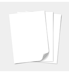 Empty paper sheet set vector image