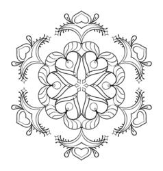 Entangle snow flake elegant mandala for adult vector