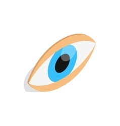 Eyes icon isometric 3d style vector image