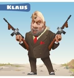 Fictional character - bandit Klaus vector