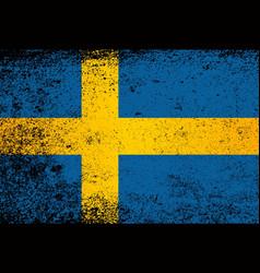 flag of sweden grunge vector image