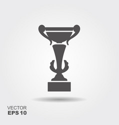 flat icon cup winner logo vector image