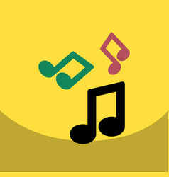 flat icon design collection music note vector image