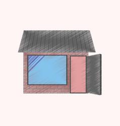 flat shading style icon shop vector image