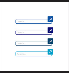 flat web design elements search bar icon graphic vector image